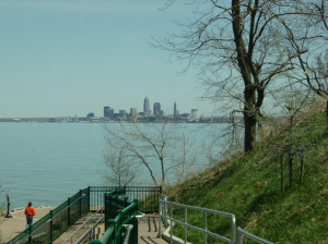Cleveland skyline from lakewood